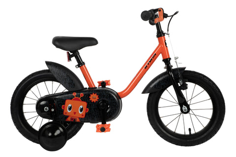 Btwin Robot 500, Kids' Bike with Training Wheels, 14''