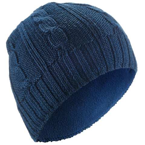 Wedze Cable-Knit Ski Hat, Kids',dark blue