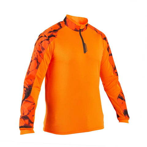 Men's Hunting Long-Sleeve Supertrack T-Shirt,safety vest orange