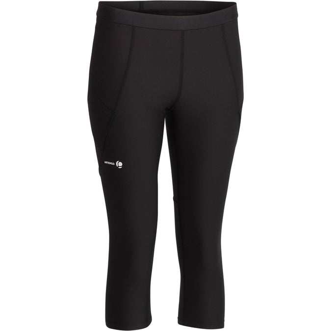 Women's Tennis Cropped Leggings Pocket Essential,black, photo 1 of 10