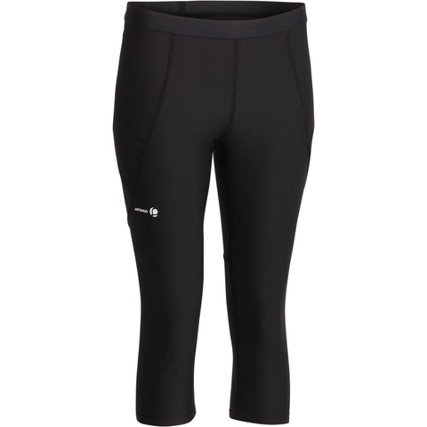 Women's Tennis Cropped Leggings Pocket Essential,black
