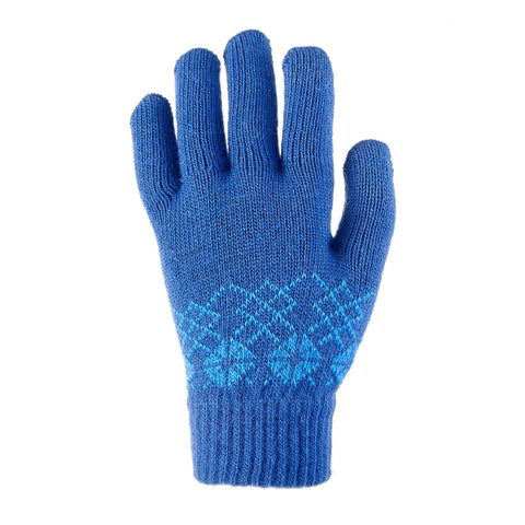 Quechua SH100 Mesh, Touchscreen-Compatible Hiking Gloves, Kids',deep blue