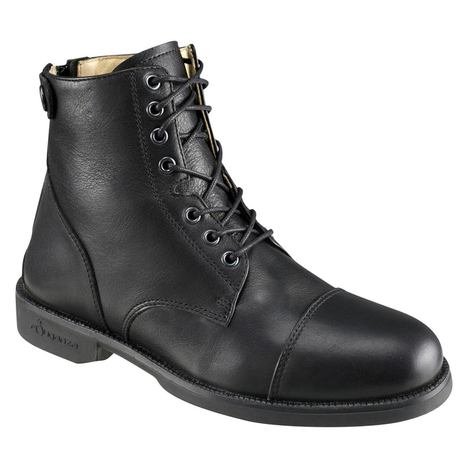 Horse Riding Lace-Up Paddock Boots,black, photo 1 of 11