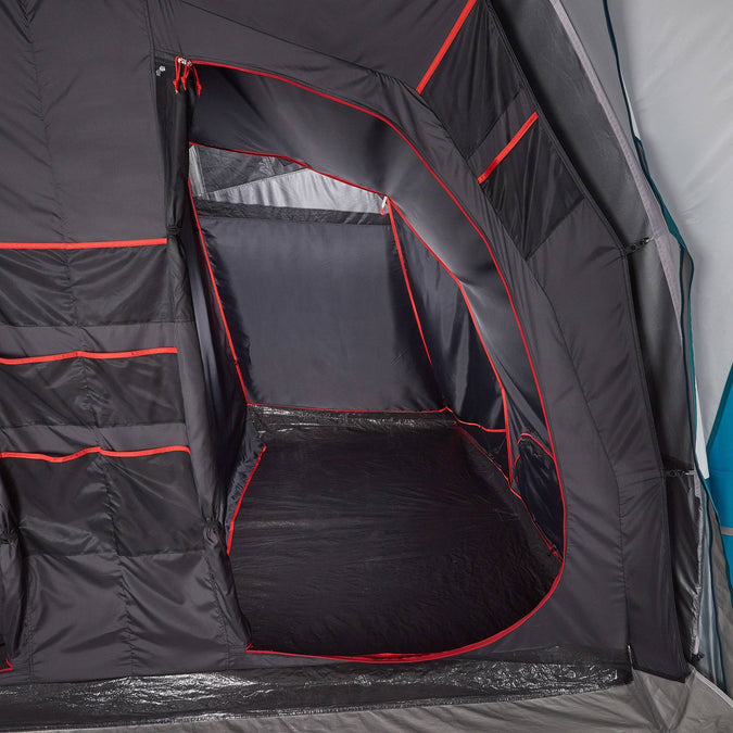 Air Seconds Fresh & Black 6 3 Inflatable Camping Tent | 6 Person 3 Bedroom