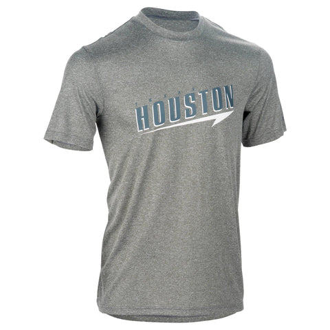 Men's Basketball T-Shirt Fast Houston,gray