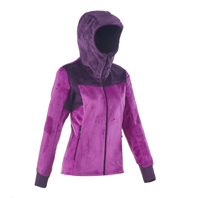 Women's Mountain Hiking Fleece Jacket Forclaz 500,purple, photo 1 of 11