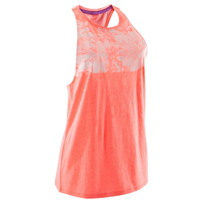 Women's Dance Loose Tank Top,neon coral pink, photo 1 of 11