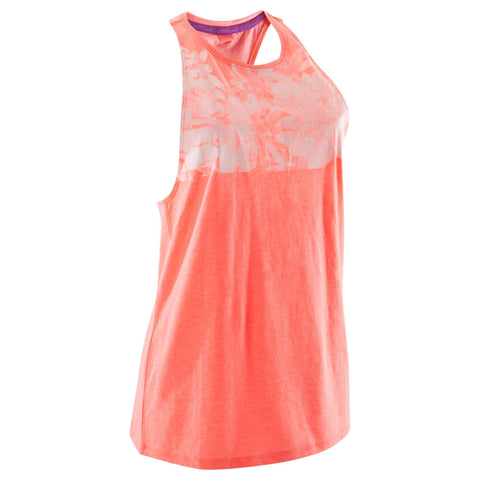 Women's Dance Loose Tank Top,neon coral pink