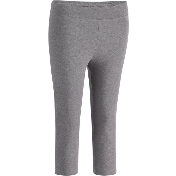 Women's Gym & Pilates Slim-Fit Cropped Leggings Fit+,gray blue, photo 1 of 11