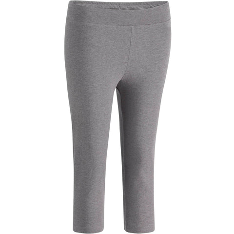 Women's Gym & Pilates Slim-Fit Cropped Leggings Fit+,gray blue