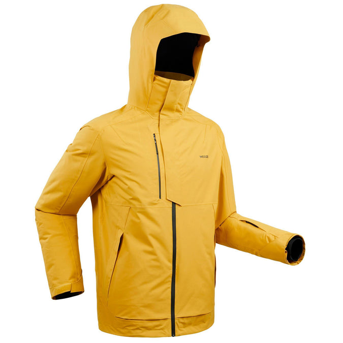 Men's Freeride Ski Jacket FR100,honey, photo 1 of 20