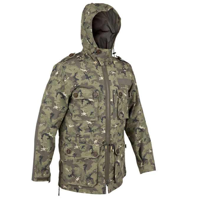 Men's Hunting Jacket 500,dark khaki, photo 1 of 21
