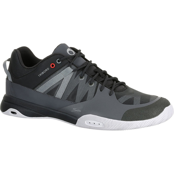 Men's Sailing Deck Shoes ARIN500,dark gray, photo 1 of 5