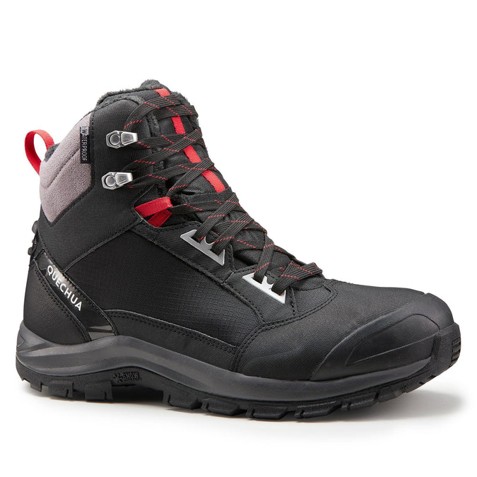 Men's Snow Hiking Boots X-Warm Mid SH520,black, photo 1 of 8