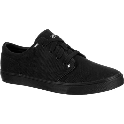 Adult Skateboarding Longboarding Low Rise Shoes Vulca Canvas,black