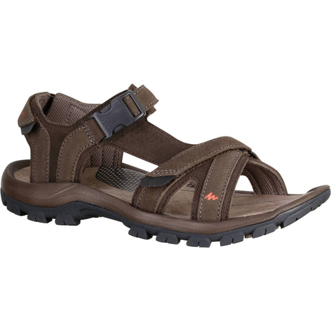 Men's Country Walking Sandals NH120,coconut brown