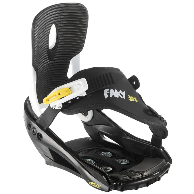Junior Snowboard Bindings, Faky 300,black, photo 1 of 8