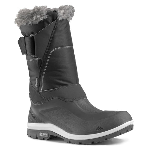 Quechua SH500 X-Warm, Waterproof High Snow Boots, Women's,carbon gray