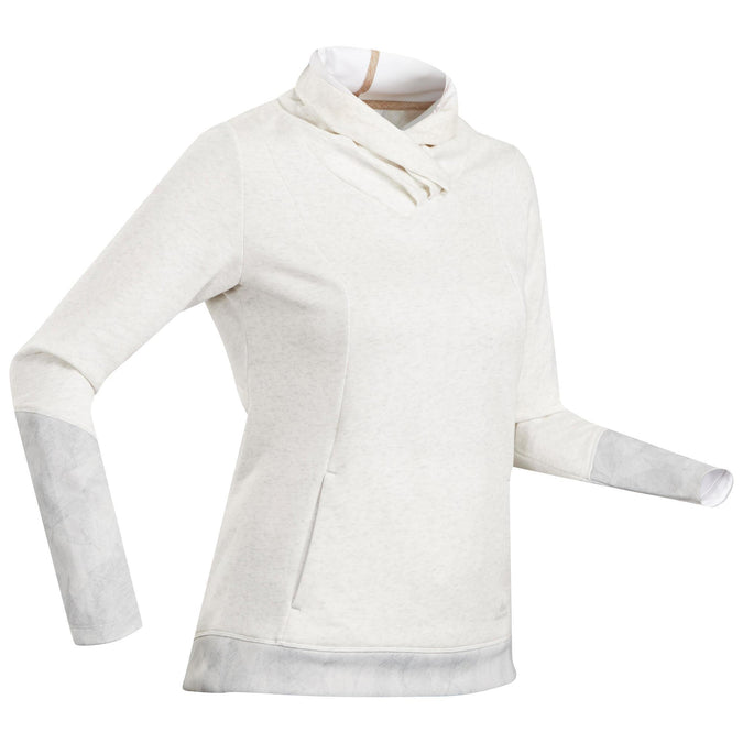 Quechua NH500, Hiking Sweater, Women's,snowy white, photo 1 of 12