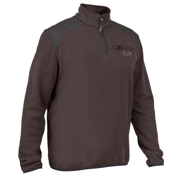 Men's Hunting High Neck Pullover 300,black, photo 1 of 14