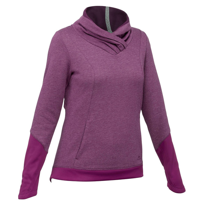 Women's Nature Hiking Pullover NH500,plum, photo 1 of 10