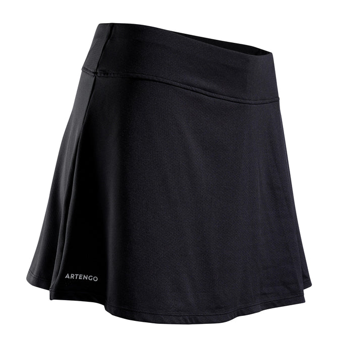 Women's Tennis Skirt SK Soft 500,black, photo 1 of 9