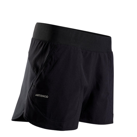 Women's Tennis Shorts SH Soft 500,black
