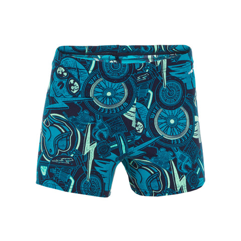 Boy's Swimming Boxer Shorts Fit 500,blue