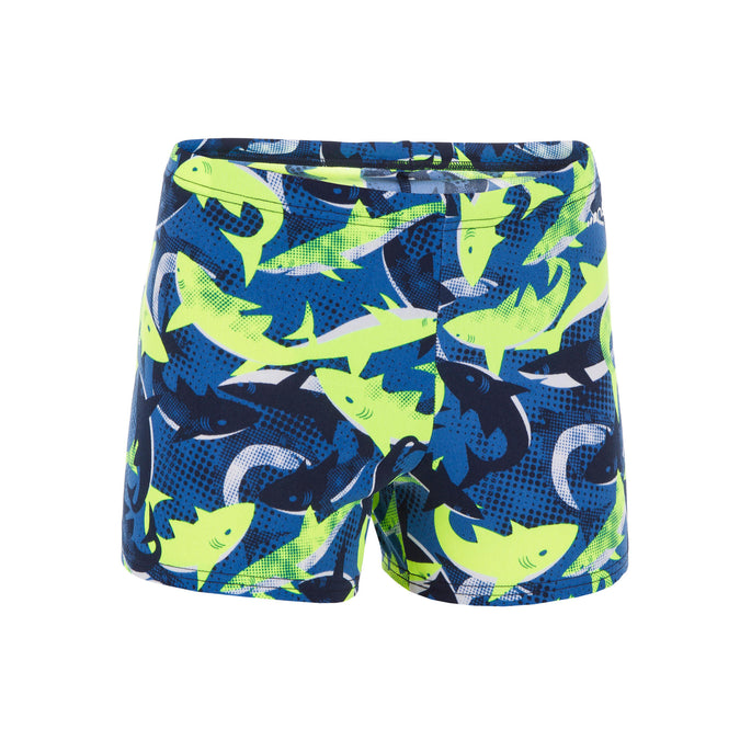 Nabaiji Fit 500, Swimming Boxer Shorts, Boys',neon yellow, photo 1 of 5