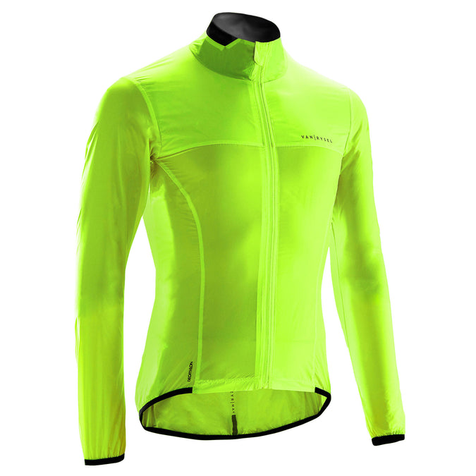 Ultra-Light Long-Sleeved Windproof Road Cycling Jacket,neon lemon lime, photo 1 of 5
