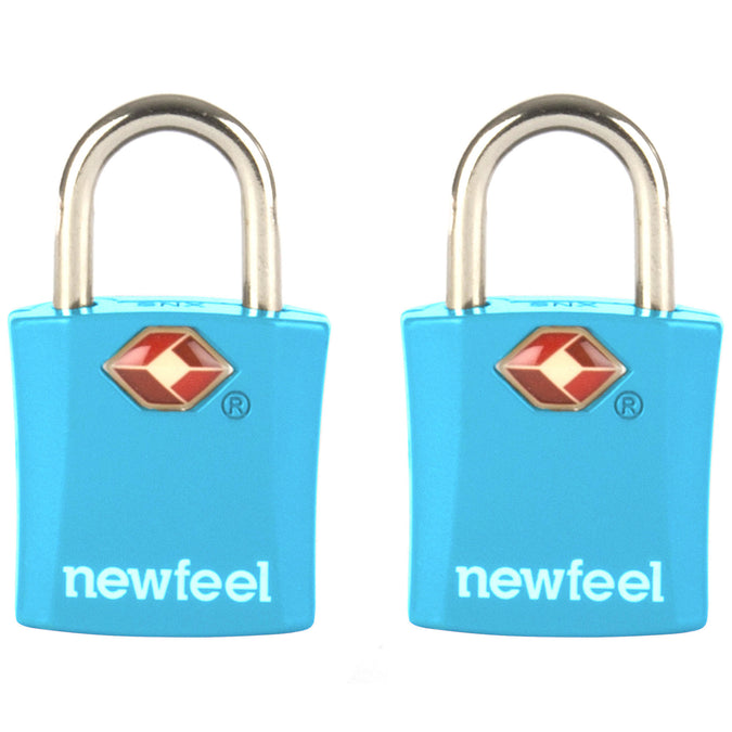 Travel Padlock Twin-Pack with Keys,cyan, photo 1 of 2