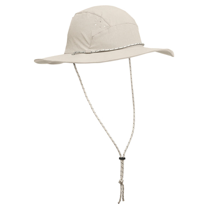 Men's Trek 500 Anti-UV Hiking Hat,cappucino, photo 1 of 4