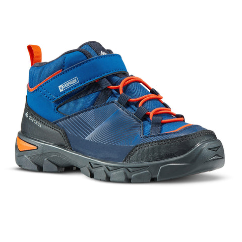 Kids' Hiking Boots Velcro Mid 10.5C to 2.5 MH120,