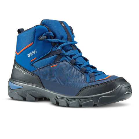 Kids' Hiking Waterproof Boots 3.5 to 6 MH120 MID,