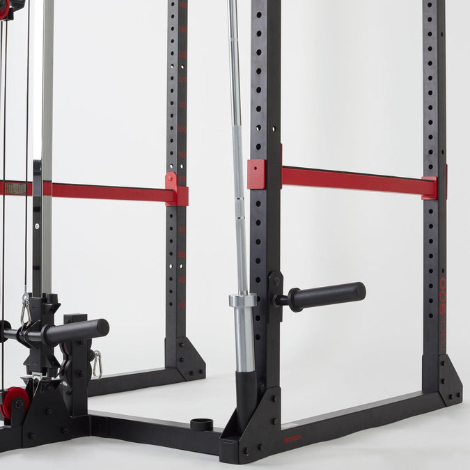 Details about  /Domyos Smith Machine 900 Weight Training Rack weight and fitness rack original