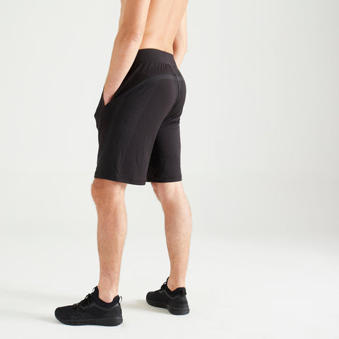 Men's FST 900 Seamless Cardio Workout Shorts,black