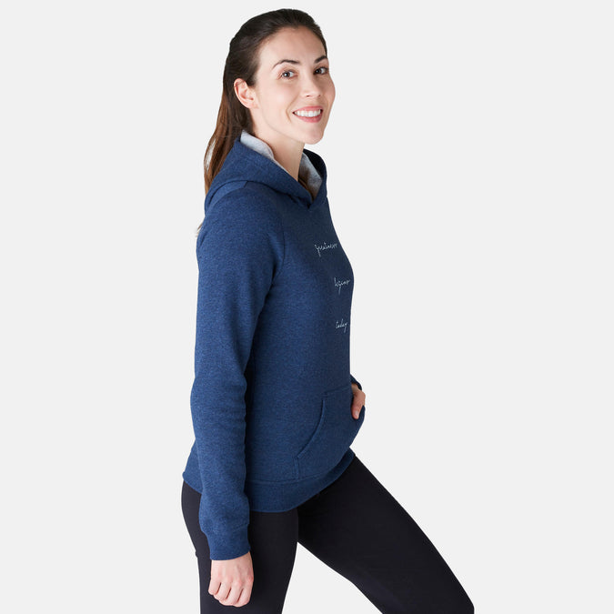 Women's Gentle Gym and Pilates Hooded Sweatshirt 520,blue, photo 1 of 7