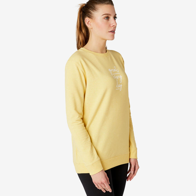 Women's Sweatshirt 100,yellow, photo 1 of 6