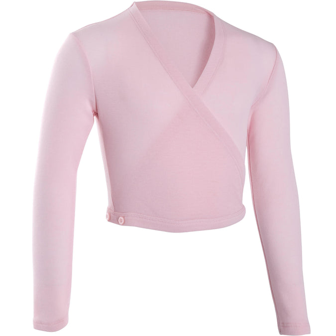 Girls' Ballet Wrap Top,cotton candy, photo 1 of 10