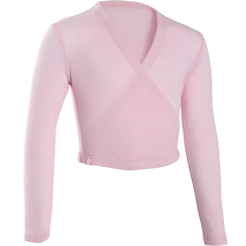 Girls' Ballet Wrap Top,cotton candy