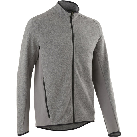 Gentle Gym and Pilates Hooded Jacket 500,gray