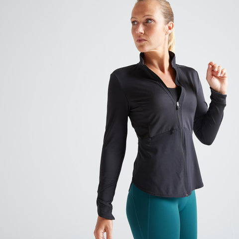 Women's Fitness Cardio Training Jacket 500,