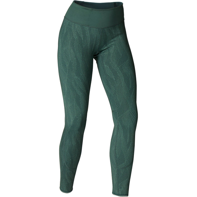 Domyos Reversible Dynamic Yoga Leggings, Women's,dusty green, photo 1 of 9