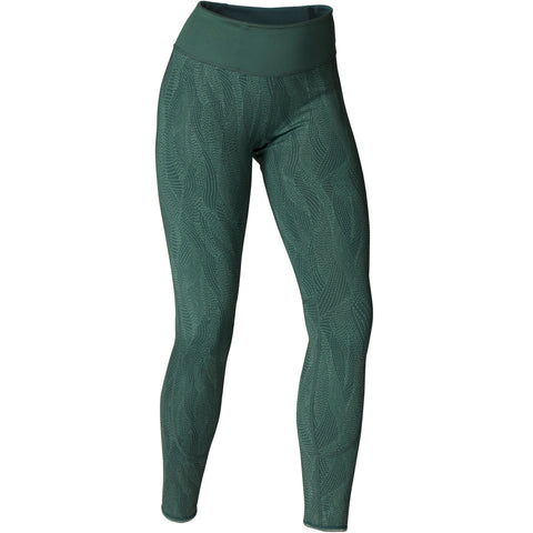 Domyos Reversible Dynamic Yoga Leggings, Women's,dusty green