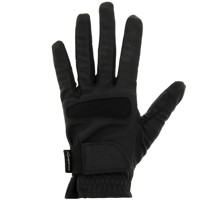 Women's Horseback Riding Grippy Gloves,black, photo 1 of 11