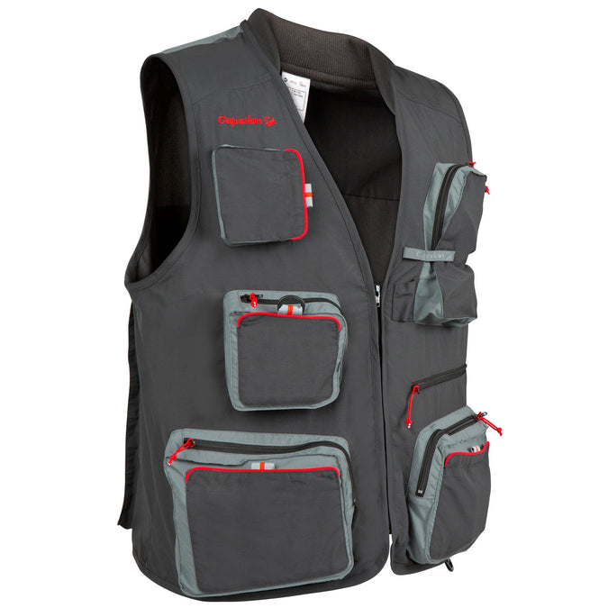 Fishing Gilet Caperlan 500,carbon gray, photo 1 of 10