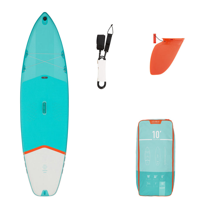 Itiwit X100, 10' Inflatable Touring Stand-Up Paddle Board,turquoise green, photo 1 of 11