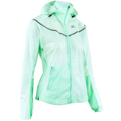 Women's Showerproof Jacket Kiprun Light,