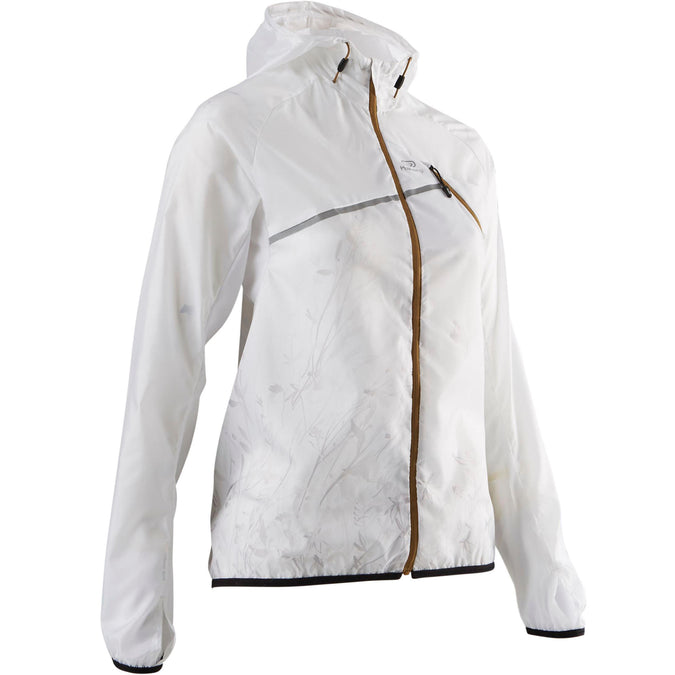 Women's Trail Running Windproof Jacket,snowy white, photo 1 of 9