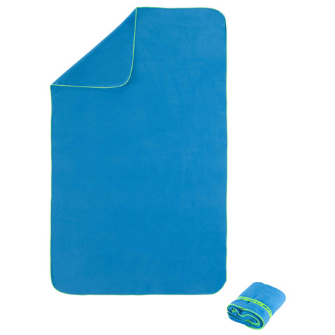 Microfiber Towel, L,grey blue